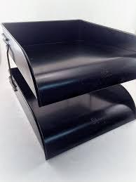 Daher Decorated Ware Tin Tray by Vintage Metal File Tray Industrial Desktop Paper By Retroamyo