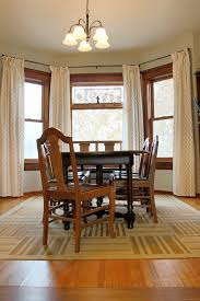 Dining Room Uisng Lowes Rugs Plus Wooden Set And Curtains With Floor