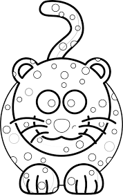 Onca Preta Black White Line Art Christmas Xmas Stuffed Animal Coloring Book Colouring 555px