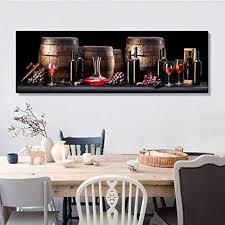 xlkdp traube weinfass glas leinwand malerei poster wandkunst