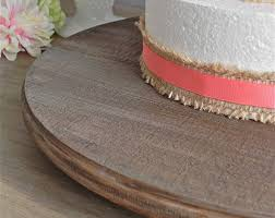 18 Cake Stand Cupcake Round Rustic Country Wooden Wedding Decor E