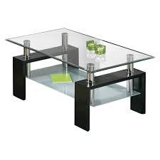 couchtisch glastisch wohnzimmer beistelltisch schwarz mdf metall inkl zweiter ablagefläche