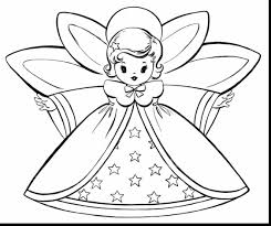Wonderful Christmas Fairy Coloring Page With Pages For And