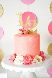 Pink And Gold Birthday Themes by Hannah U0027s Half Year Birthday Party In Gold Glitter And Pink Florals