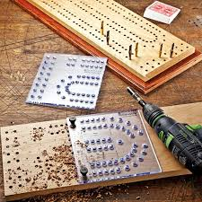 The Two Piece Template Includes Indexing Pins Which Allow You To Line Up Templates In Finished Cribbage Board