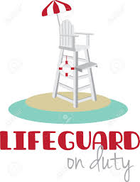 Beach Lifeguard Chair Plans by Tall Lifeguard Chair With A Red And White Umbrella Royalty Free