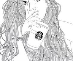 Starbucks Outline And Drawing Image