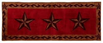 Texas Lone Star Red Rug