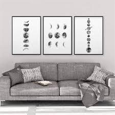 doludo sonnensystem wandkunst bild minimalist 3 stück