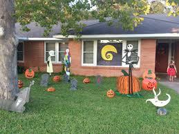 Halloween Yard Decorations Pinterest by Nightmare Before Christmas Halloween Yard Art Candace U0027s Yard Art
