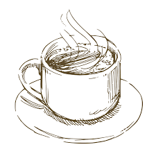Coffee Cup Sketch Png Vintage Teacup Drawing At Stock