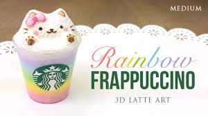 Rainbow Starbucks Latte Art