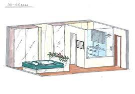 schlafzimmer mit badezimmer planung 3d skizze