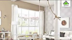 Spring Loaded Curtain Rod Bunnings by How To Install Curtain Rods Youtube