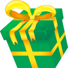 Christmas present clipart with transparent background