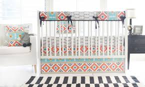 Coral And Mint Baby Bedding by On Trend While Still On Budget Project Nursery
