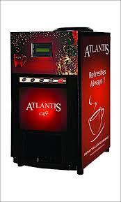 ATLANTIS Metal Mini 2 Lane Tea And Coffee Vending Machine Black