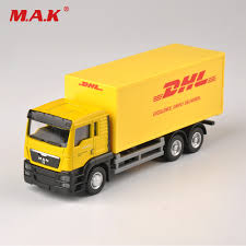 100 Diecast Truck Models 164 Scale Express DHL Model Yellow Container