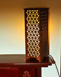 Laser Cut Lamp Shade by Handmade Laser Cut Table Night Bedside Lamp U0027retro