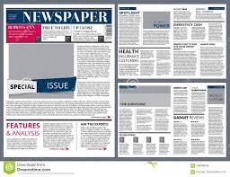 Download Vector Design Template Of Newspaper Stock