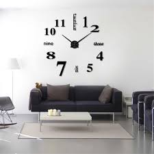 Modern DIY Fashion Watches Quartz Wall Clocks 3D Mirror Surface Large Number Wall Clock Sticker Acrylic Living Room Home Decor