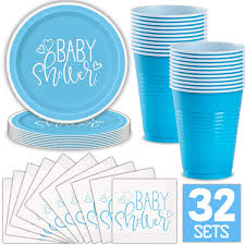 Blue Ombre Oh Boy Themed Baby Shower Mrs And The Misc