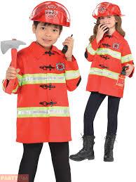 Childs Fireman Costume Boys Girls Fire Chief Fancy Dress Kids Book ...