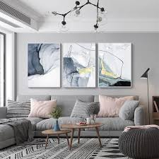 abstract blue black slate grey marble wall posters