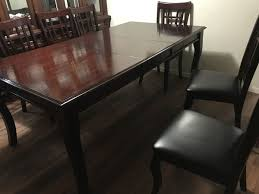 Dining Table With 6 Chairs Leather In Good Condition For Sale Dallas TX
