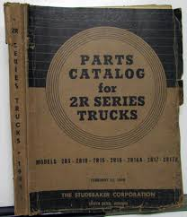 100 Studebaker Truck Parts 1949 Dealer Catalog Book Series 2R