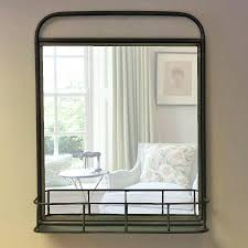 wall mirrors wall mounted bathroom mirror with shelf mirror with