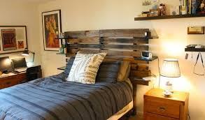 Wonderful DIY Pallet Wood Headboard Projects