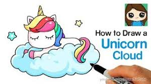0942 How To Draw A Unicorn On Cloud Easy
