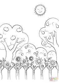 Beautiful Garden Coloring Page Within Pages Printable