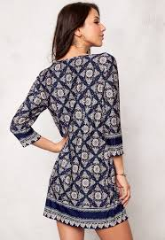 happy holly jessie dress blue patterned bubbleroom