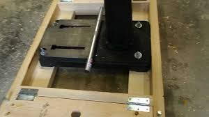 Floor Mount Drill Press by Homemade Mobile Base For A Drill Press Youtube