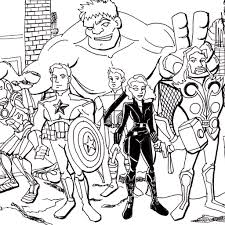 The Avengers Coloring Pages To Print Archives Best Page