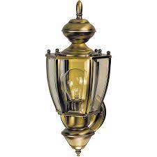 shop heath zenith 18 87 in h antique brass motion activated