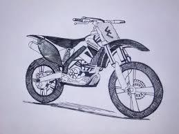 Kawasaki Dirt Bike Drawing