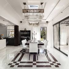 modernes haus ein schönes interieur esszimmer