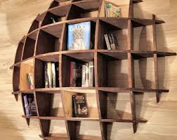 wood bookcase etsy