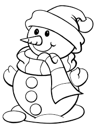 Winter Coloring Snowman Pages Free FreeFull Size Image