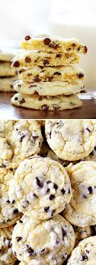 Chocolate Chip Cake Mix Cookies i am baker