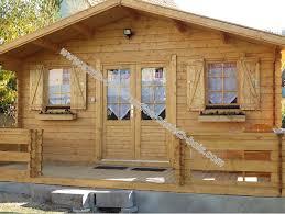 kit chalet de jardin bois pavier 20 m en madriers de 34 mm