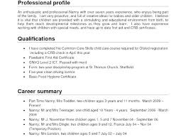 Sample Profile On Resume Personal For Luxury