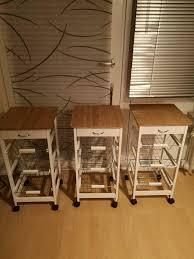 servierwagen küche unterschrank rollen weiß beige küchenschrank
