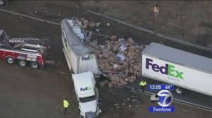 FedEx Tractor Trailer Overturns On I-287 In Mahwah, Snarling Traffic ... Crews Reopen Lanes Of Pennsylvania Turnpike After Crash Pittsburgh Bus Fedex Semi Didnt Brake Before Hitting Bus Abc7com Caught On Video Uta Frontrunner Train Crashes Into Truck Good Samaritan Saves Driver Fire In Fatal Multisemi I Minivan Jefferson Street Wics Were Packages Damaged I5 And Kirotv Just In Accident Volving Results Nonlife I24 Near Harding Place Several Injured Daily Journal News Thief Steals Crashes Truck Nbc 10 Pladelphia Deadly Causing Sldowns I4