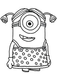 Coloring Pages Pokemon Go One Eye Minion Despicable Me Cute For Adults