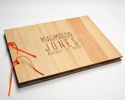 DIY Engraved Guest Book Wood Wedding Personalized Bridal Engagement Rustic Modern On Etsy