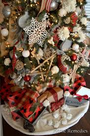 A Rustic And Cozy Farmhouse Style Christmas Tree From HomeRemediesRx